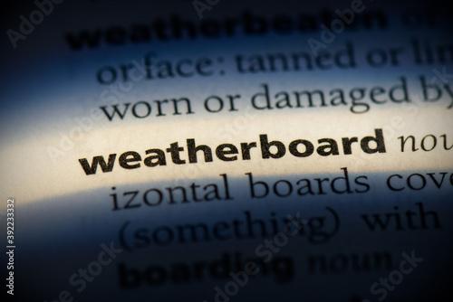 weatherboard Fototapeta