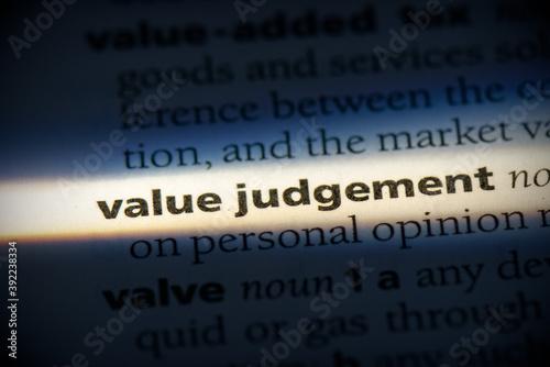 value judgement Canvas