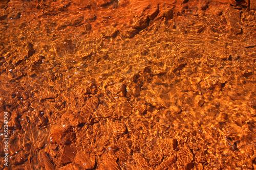 textura en el Rió Tinto, Huelva