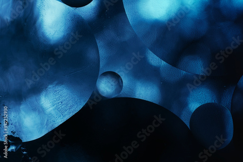 Cuadros en Lienzo abstract dark blue background, shapes and light