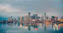 City Skyline Miami Florida Vie...