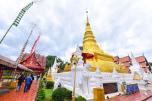 Golden Pagoda Of Wat Phra That Chae Haeng In Nan Province