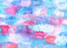 Pink Blue Watercolor Backgroun...