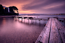 Old Pier At The Coast Of The F...
