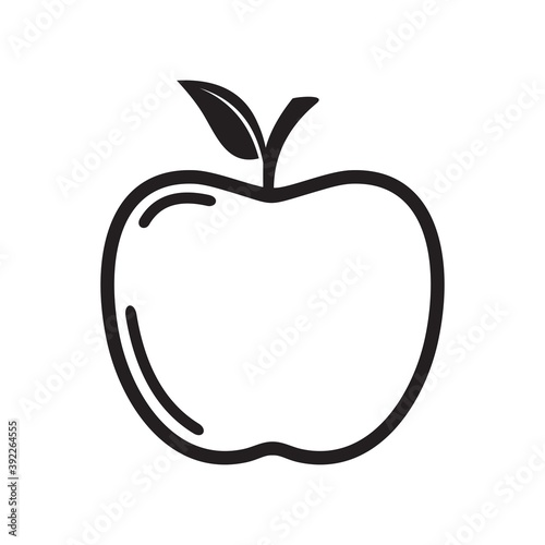 Fotografie, Obraz apple icon vector illustration