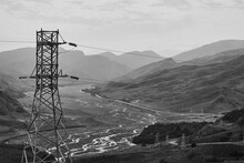 Power Poles And Power Lines. E...