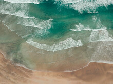 Aerial View Turquoise Waves Sl...