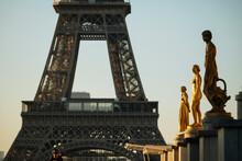 Palais De Chaillot And Eiffel Tower, Paris, Ile-de-France, France