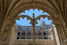 Manueline Ornamentation In The Cloister, Monastery Of The Hieronymites (Mosteiro Dos Jeronimos), Belem, Lisbon