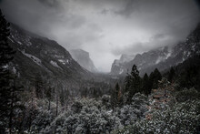 Yosemite Valley During Cloudy ...