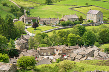 Langthwaite Village Rooftops, Arkengarthdale, Near Reeth, The Yorkshire Dales National Park, Yorkshire