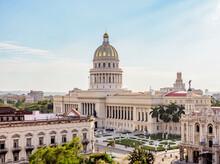 El Capitolio, Elevated View, Havana, La Habana Province, Cuba