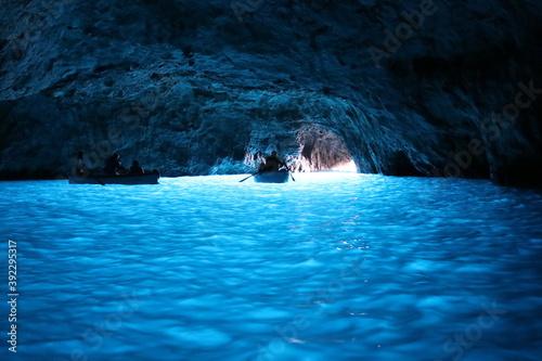 Blue Grotto on the coast of the island of Capri, Italy