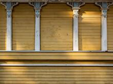 Yellow Wooden Facade