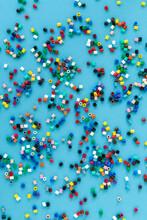Ironing Beads On Blue