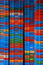 Pile Of Plastic Crates