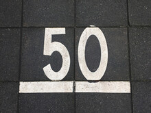 Sidewalk Tiles With Number 50 ...