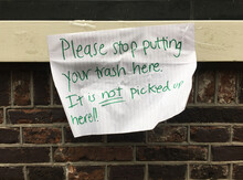 Notice On Building About Trash