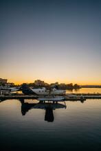 Seaplane Against Sundown Sky