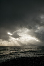Clouds And Sun Over Stormy Sea
