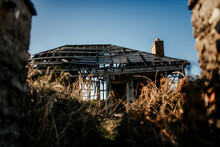 Abandoned Decayed House In Countryside