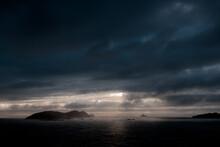 Gloomy Overcast Sky Above Ocean