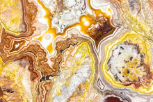 Macrophotographic Detail Of A Crazy Lace Agate From Mexico