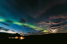 Northern Light In Dark Sky