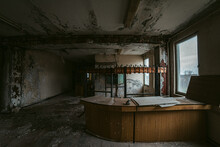 Interior Of Derelict Office Building