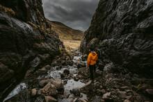 Male Hiker Exploring Mountain ...