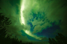 Northern Lights On Cloudy Nigh...