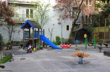 Empty Playground In Amsterdam