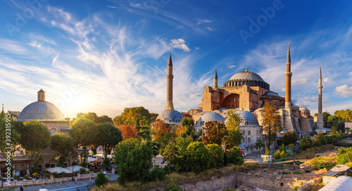 The Hagia Sophia Grand Mosque and museum of Istanbul, Turkey Billede på lærred