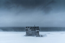 A Wooden Cabin Over The Artic ...