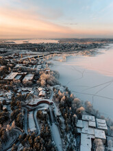 An Aerial View Over The Winter...