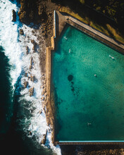 Ocean Baths From Above.