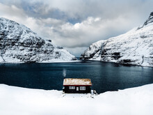 A Lonely Cabin In The Winter M...