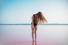 Woman In Pink Lagoon