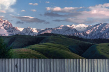 View Of The Snowy Mountains An...