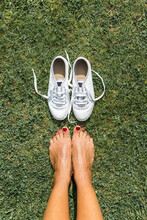 Shoes Off On The Grass