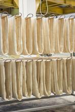 Loops Of Freshly Spun Silk Thread