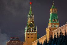 Night View On Moscow Kremlin A...