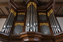 Pipe Organ Case Facade From Da...