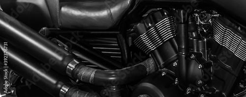 Motorcycle Engine. Motor bike detail.
