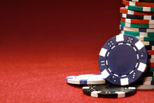 Stack Of Various Poker Chips O...
