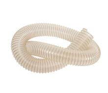 Closeup Shot Of A Plastic Hose On A White Background