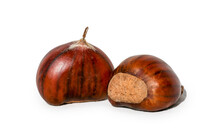 Chestnuts Isolated For Backgro...