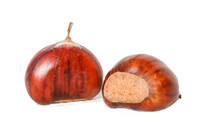 Chestnuts  Isolated For Backgr...