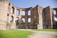TRIER, GERMANY - Sep 22, 2014: Roman Imperial Baths,Kaiserthermen,Trier,Germany