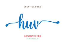 HUV Lettering Logo Is Simple, Easy To Understand And Authoritative